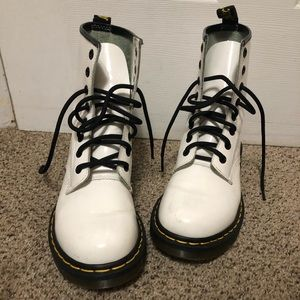 •SOLD• Dr Martens 1460 white & glossy boots.